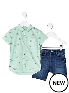 river-island-mini-boys-green-print-shirt-outfit