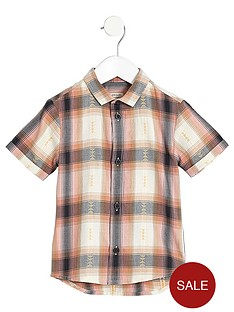 river-island-mini-boys-orange-check-short-sleeve-shirt
