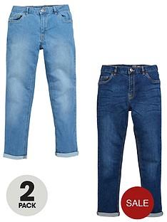v-by-very-boys-light-wash-skinny-jeans-2-pack