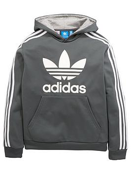 Adidas Originals Adidas Originals Older Boy Poly Trefoil Hoody