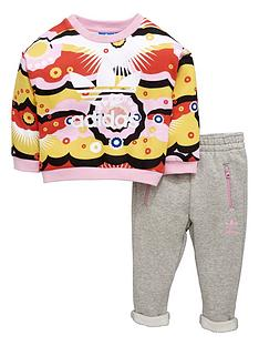 adidas-originals-adidas-originals-baby-girl-print-crew-top-and-pant-set
