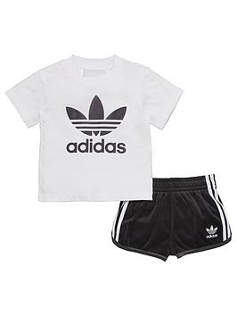 Adidas Originals Adidas Originals Baby Boy Trefoil Tee And Short Set
