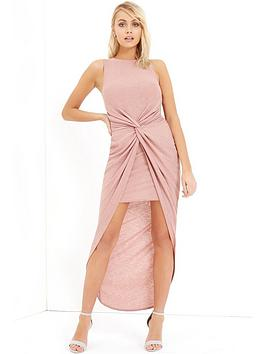Girls On Film Knot Maxi Dress  Blush