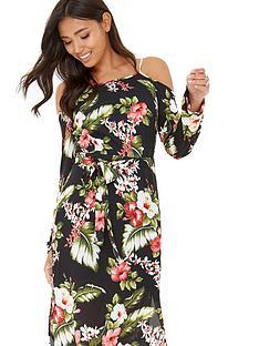 girls-on-film-cold-shoulder-botanical-dress