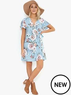 girls-on-film-wrap-tea-dress-blue-print