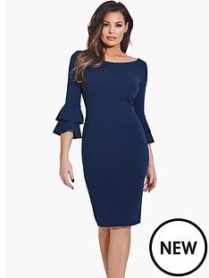 jessica-wright-frill-sleeve-bodycon-dress