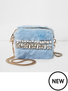 river-island-river-island-faux-fur-mini-jewelled-detailed-crossbody