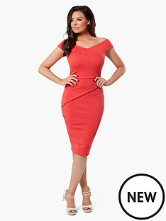 jessica-wright-verity-wrap-dress-coral