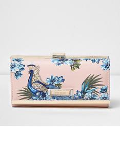 river-island-peacock-print-cliptop-purse