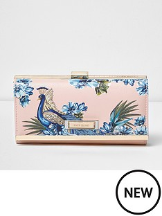 river-island-peacock-print-cliptop-purse