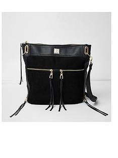 river-island-zip-front-messenger-bag