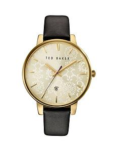 ted-baker-ted-baker-gold-tone-patterened-dial-black-leather-strap-ladies-watch