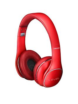 Samsung Stylish Level On Wireless Bluetooth OnEar Headphones  Red