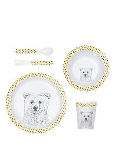 mamas-papas-melamine-feeding-set--bear-spot