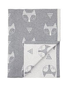 mamas-papas-knitted-blanket--fox-head