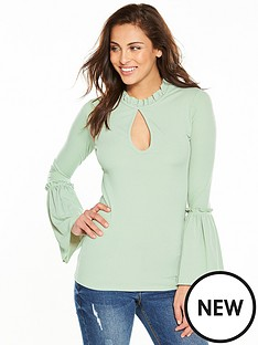 v-by-very-trumpet-sleeve-rib-jersey-top