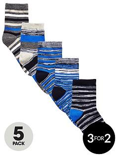 v-by-very-boys-blue-marl-striped-socks-5-pack