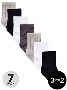 v-by-very-boys-core-socks-7-pack