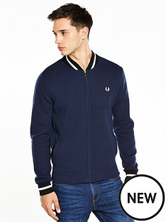 fred-perry-tipped-bomber-cardigan