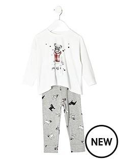 river-island-girls-cream-pug-pyjamas-set