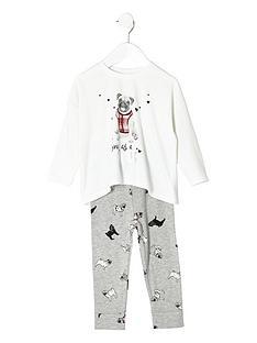 river-island-girls-cream-pug-pyjamas