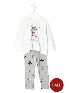 river-island-girls-cream-pug-pyjamas