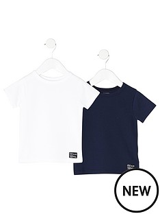 river-island-mini-boys-2-pack-waffle-t-shirts