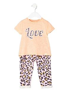 river-island-mini-girls-coral-print-t-shirt-amp-legging-outfit