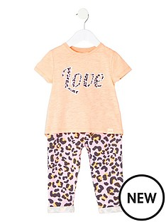 river-island-mini-girls-coral-print-t-shirt-amp-legging-set