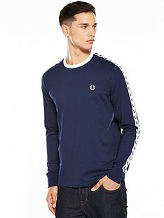 fred-perry-fred-perry-sports-authentic-ls-taped-ringer-t-shirt