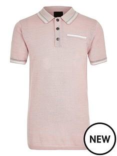 river-island-boys-pink-tipped-smart-polo-shirt