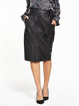boss-beslauny-pu-skirt-black