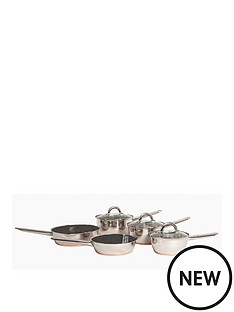 sabichi-copper-base-5-piece-pan-set