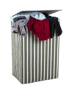 minky-laundry-hamperbasket-green-stripe-canvas