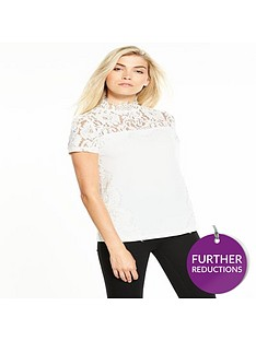 v-by-very-eyelash-lace-crepe-top
