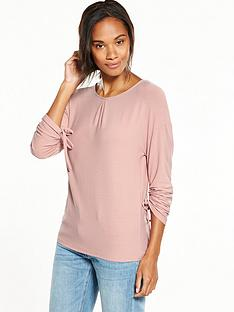 v-by-very-ruched-sleeve-jersey-top-blush