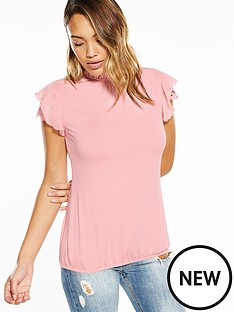 v-by-very-guipure-ruffle-sleeve-top