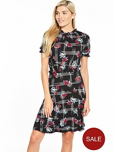 v-by-very-sheered-godet-tea-dress