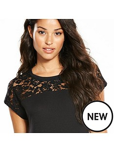 v-by-very-lace-panel-t-shirt