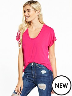 v-by-very-cupro-t-shirt-hot-pink