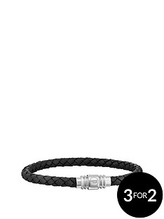 police-police-mens-black-leather-weave-magnetic-bracelet
