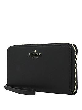 Kate Spade New York New York Zip Wristlet Wallet Phone Case For Any Device &Ndash Saffiano Black