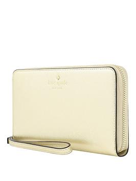 Kate Spade New York New York Zip Wristlet Wallet Phone Case For Any Device &Ndash Saffiano Gold