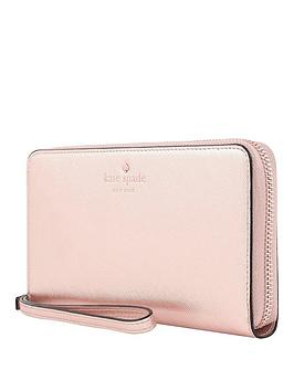 Kate Spade New York New York Zip Wristlet Wallet Phone Case For Any Device &Ndash Saffianorose Gold