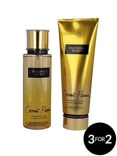 victorias-secret-victoria039s-secretnbspcoconut-passion-250ml-fragrance-mist-amp-236ml-body-lotion-gift-set