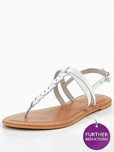 v-by-very-leather-plait-detail-flat-sandal-white