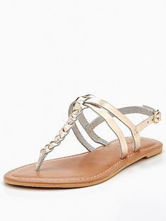 v-by-very-leather-plait-detail-flat-sandal-metallic