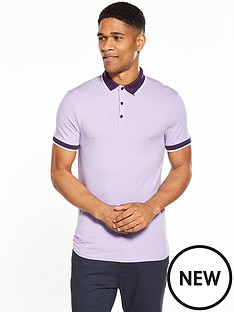 river-island-muscle-fit-tipped-polo