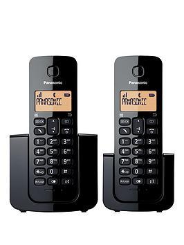 Panasonic KxTgb112 Digital Cordless Phone Twin Handsets  Black