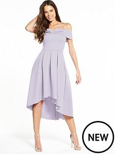 miss-selfridge-bardot-drop-hem-dress